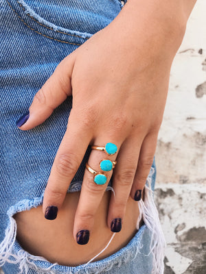 Dainty Rings // Triple Turquoise