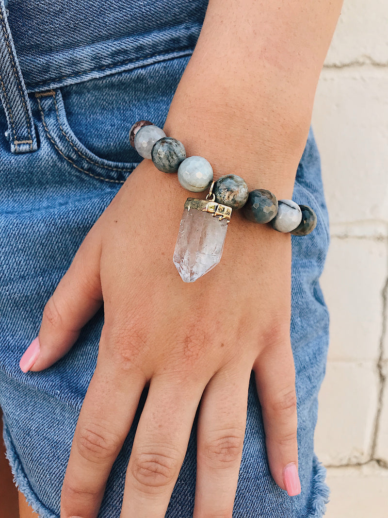 Fancy Jasper Bracelet // Gemstone Charm
