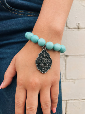 Buddha Charm on Bracelet