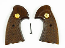 Colt Python 2nd Gen Target grips, Blued Hardware