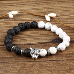 Natural Stone Leopard Element  Bracelet