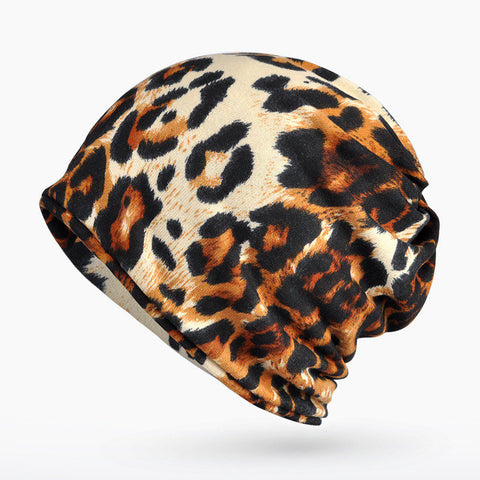 New Fashion Warm Beanie Women  Snow Leopard