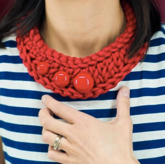 Necklace Pectoral Red Pattern - FREE Download!