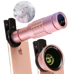 Ultra Phone Lenses Kit: 18X Zoom Telephoto + 0.6X Wide + 15X Macro HD