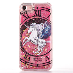 Case For iPhone Unicorn Dial Glitter Stars