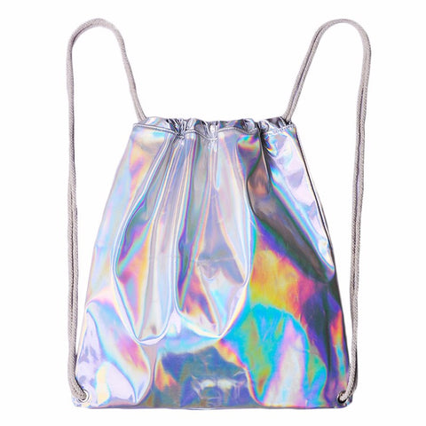 Lady Holographic Backpack Silver | Unicorn Trend-1