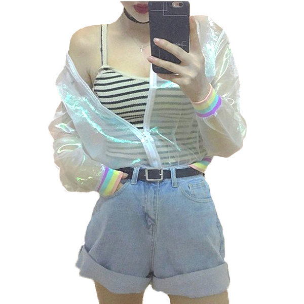 Lady Holographic Jacket | Unicorn Trend - 1