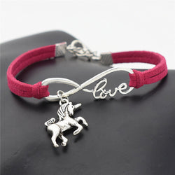 Leather Bracelet Vintage Antique Silver Unicorn | Unicorn Trend-1
