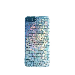 Rainbow Hologram iPhone Case 3D Alligator Grain | Unicorn Trend-1