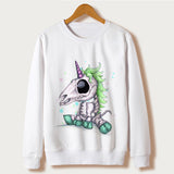 Sweatshirt Scull Unicorn Inspired | Unicorn Trend-11