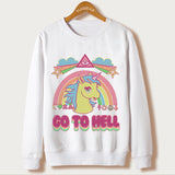 Sweatshirt Scull Unicorn Inspired | Unicorn Trend-2