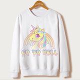 Sweatshirt Scull Unicorn Inspired | Unicorn Trend-4