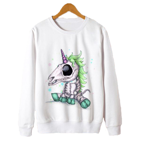 Sweatshirt Scull Unicorn Inspired | Unicorn Trend-1