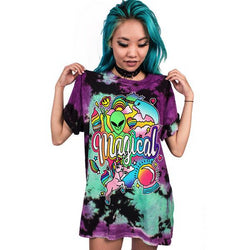 T-Shirt Punk Unicorn Alien | Unicorn Trend-1