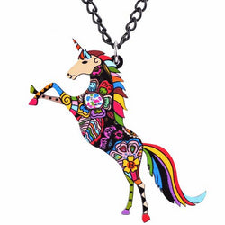 Unicorn Color Necklace Pendant