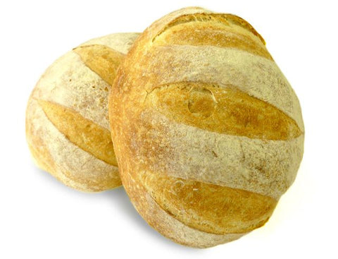 Freshly Baked Round Pain Tradition Loaf Sliced