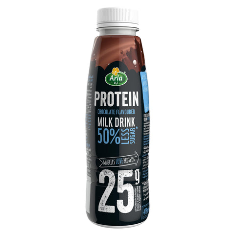 Arla Protein 50% Less Sugar Chocolate Flavoured Protein Milk Drink 250ml