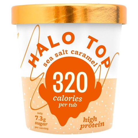 Halo Top Sea Salt Caramel Low Calorie Ice Cream 473ml