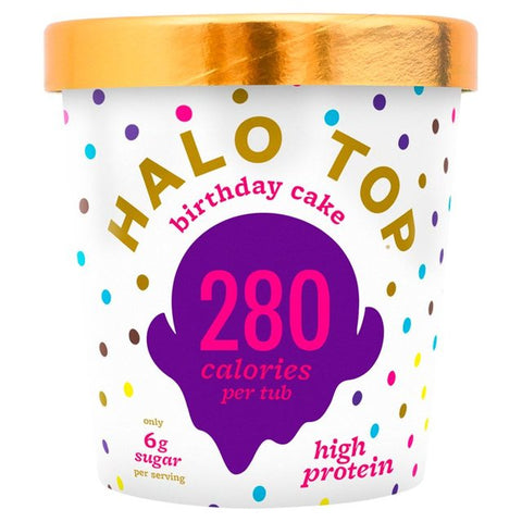 Halo Top Birthday Cake Low Calorie Ice Cream 473ml