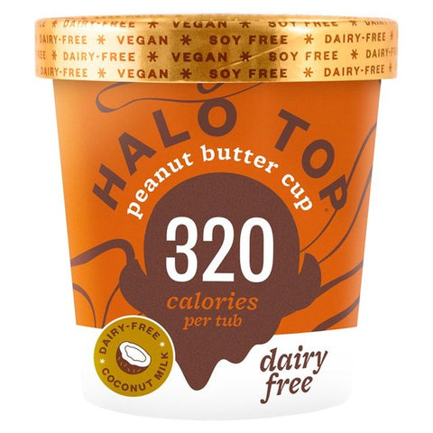 Halo Top Non-Dairy Peanut Butter Cup Low Calorie Ice Cream 473ml