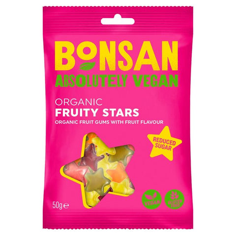 Organic Vegan Fruity Stars Gums
