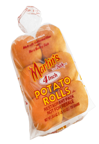 Martin's Sliced Potato Rolls - 4 inches