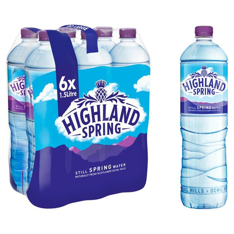 Highland Spring Water Still PET Tray 6 x 1.5 ltr