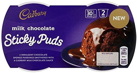 Buy Cadbury Milk Chocolate Sticky Puds - (2 x 95g) | QualityFood.ae|Snacks |From Cadbury Online food delivery Dubai Abu Dhabi and Sharjah