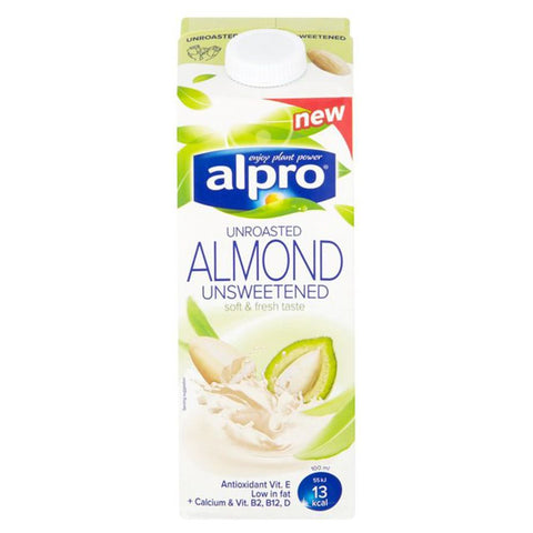 Alpro Unroasted Almond Unsweetened Milk - Case
