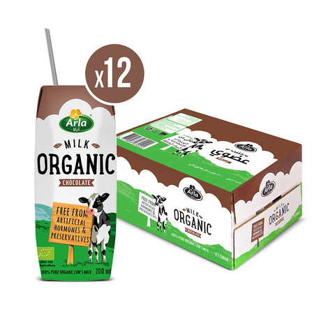 Organic Arla Chocolate UHT Milk 12 X 200ml Case