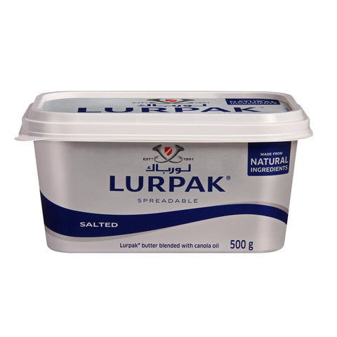 Lurpak Salted Spreadable Butter Tub 500g