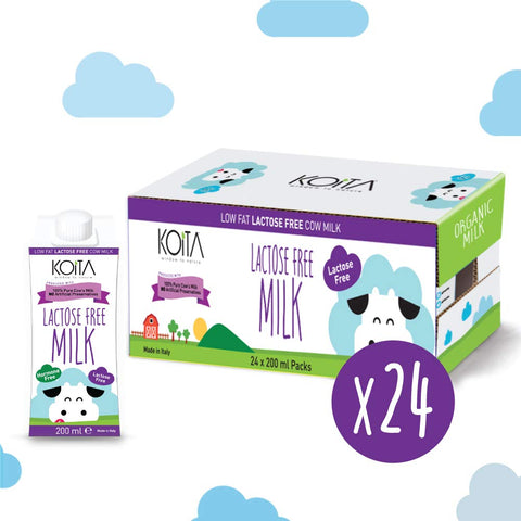 Organic Koita Lactose-Free Non Hormone Milk Pack of 24 Pcs (24 x 200ml)