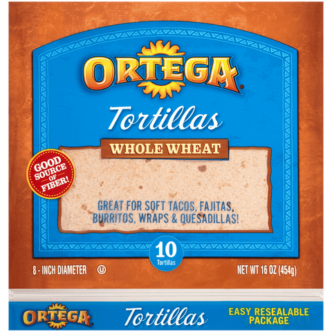 "6"" Whole Wheat Tortilla"