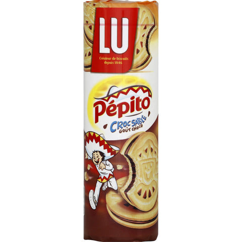 LU Pepito Croc Sable Chocolate Filled Biscuits