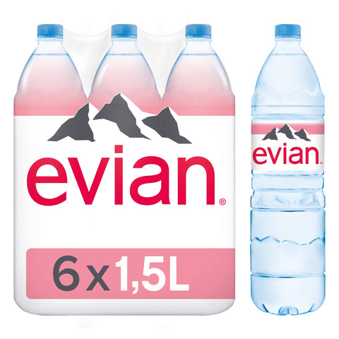 Evian Mineral Water 1.5Lx6