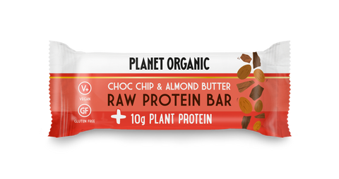 Organic Almond Butter & Choc Chip Raw Protein Bar
