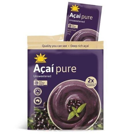 "Organic Acai Puree All Natural  Unsweetend "" Frozen"""