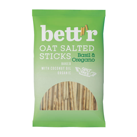 Organic Vegan Oat Salted Sticks with Basil and Oregano