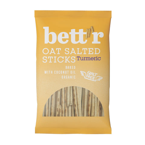 Organic Vegan Oat Salted Sticks with Turmeric