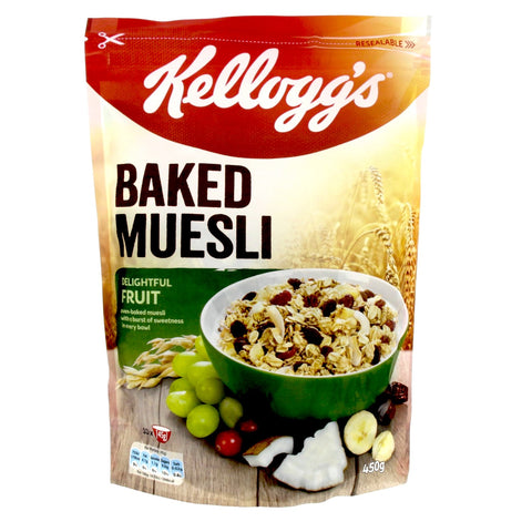 Buy Baked Muesli w/ Fruits 450gm | QualityFood.ae|Snacks |From Kellogg's Online food delivery Dubai Abu Dhabi and Sharjah