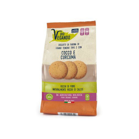 Organic Vegan Biscuits With Coconut And Turmeric
