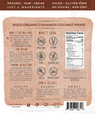 Organic Cinnamon Coconut Wraps