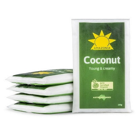 Buy Organic Smoothie Packs, Coconut Young & Creamy 400 grams Frozen | QualityFood.ae|Fruits |From QualityFood.ae Online food delivery Dubai Abu Dhabi and Sharjah
