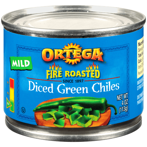 Diced Green Chilis - Mild