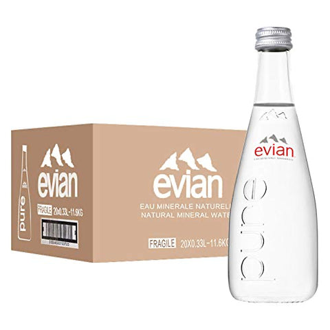 Evian Mineral Water 330ML Glass Bottles