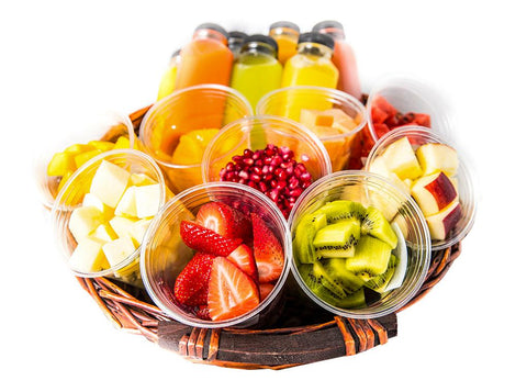Juice & Fruit Cuts Basket -Serves 15 person