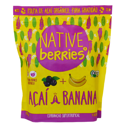Buy Organic Acai Frozen Pure All Natural With Banana | QualityFood.ae|Energy & Protein |From Native Berries Online food delivery Dubai Abu Dhabi and Sharjah