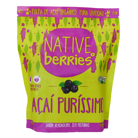 Organic Acai Frozen Pure All Natural Unsweetened Zero Sugar
