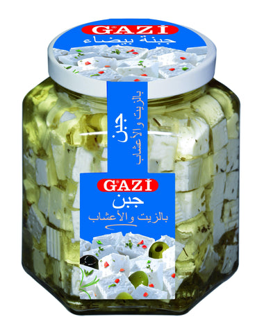 Soft Cheese Cubes in Oil w/ Herbs 45% 300gm