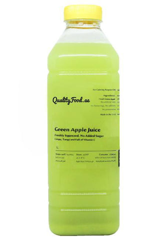 "Fresh Green Apple Juice 1 L ""Cold Pressed"""